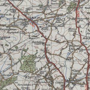 MAP OF FAIRFIELD & SURROUNDING AREA – 1945